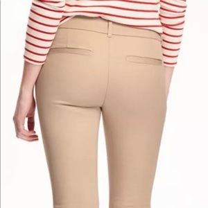 """Old navy Pixie pants """"rolled oats"""" full length tan"""